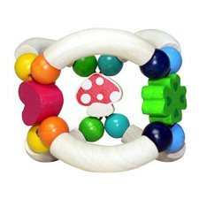 Lucky four-leaf clover rattle