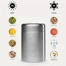 Lunch and soup box 500ml in stainless steel Qwetch