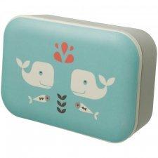 Contenitore Snack Porta Pranzo in bamboo Balena Lunch Box