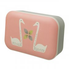 Lunch box in bamboo Swan