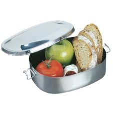 Lunch box in stainless stell