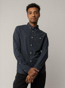 Men shirt Ayaj in poplin organic and fairtrade cotton woven