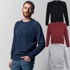 NOS pullover for men with raglan sleeves in Fairtrade Organic Cotton