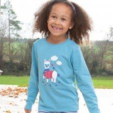 Maglia Alpaca per bambina in cotone biologico
