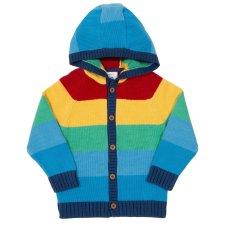 Maglioncino con cappuccio Rainbow per bambini in cotone biologico