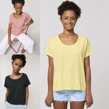 T-shirt donna Chiller Relaxed in cotone biologico