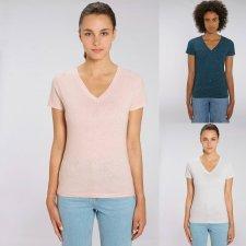 T-shirt donna Evoker Melange in cotone biologico