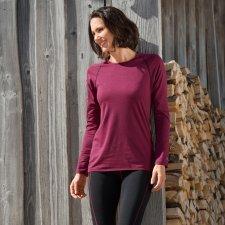 Maglia maniche lunghe donna Engel Sport in lana biologica e seta