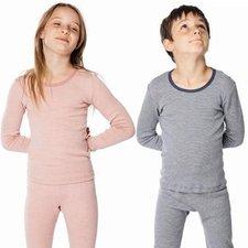 Maglia bambini in lana biologica e seta Naturale e a Righe