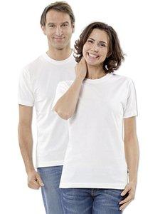 Maglietta unisex manica corta bianca in cotone biologico
