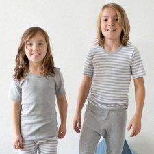Maglia intima manica corta per Bambini in cotone biologico