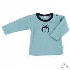 Maglia manica lunga Husky per bambini in cotone biologico