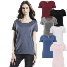 T-shirt donna basica in puro cotone biologico