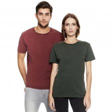 T-shirt unisex stone washed in puro cotone biologico