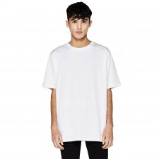 T-shirt Oversize unisex in cotone biologico - Bianco
