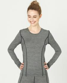Maglia Sport donna a maniche lunghe in lana biologica