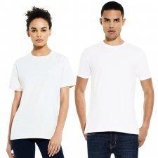 T-shirt unisex Pesante manica corta bianca in cotone biologico