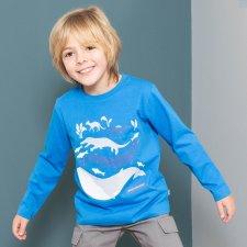 Maglia Whale evolution per bambino in cotone biologico
