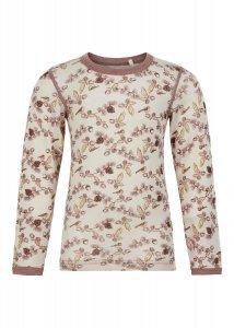 Maglietta Ghiande per bambina in pura lana naturale