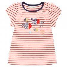 Maglietta Pesci per bambina in cotone biologico