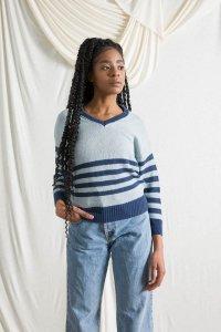 Maglioncino Brigitte da donna in cotone da jeans rigenerato