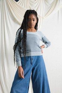 Maglioncino Coco da donna in cotone da jeans rigenerato