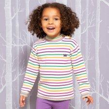 Maglioncino Dolcevita Crown per bambina in Cotone Biologico
