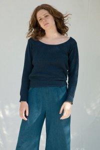 Maglioncino Grazia da donna in cotone da jeans rigenerato