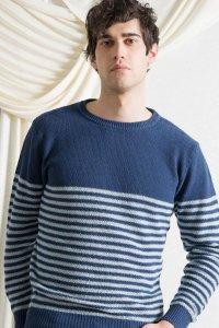 Maglioncino Pablo da Uomo in cotone da jeans rigenerato