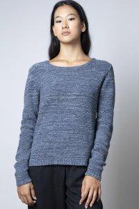 Maglioncino Raffaella da donna in cotone da jeans rigenerato