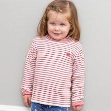 Maglioncino Stripy Heart da Bambina in Cotone Biologico