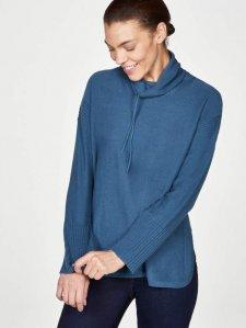 Maglione a collo alto Rildey da donna in lana e cotone biologico