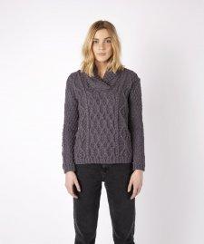 Maglione Aran Bramble da donna in pura lana