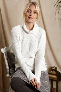 Maglione da donna Textured Knit in puro cotone biologico