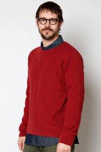 Maglione da uomo Textured Knit in puro cotone biologico