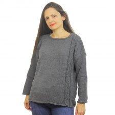 Maglione donna Roberta in lana merino e seta