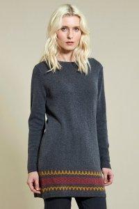 Maglione Jacquard in misto lana e cotone