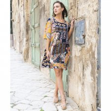 ANDALUCIA dress in Linen, cotton and natural viscose