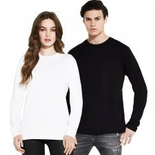 Shirt long sleeve basic man in organic cotton