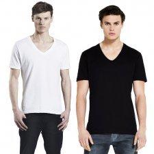 T-shirt V-neck man in organic cotton