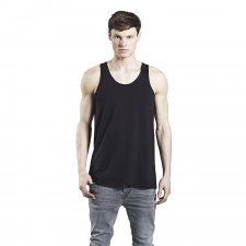 Vest basic man in organic cotton