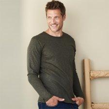 Man long sleeve classic shirt in organic cotton