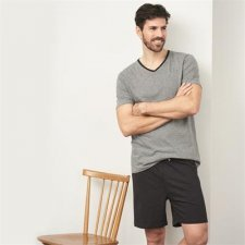 Man short pyjama in organic cotton