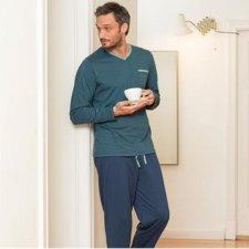 Man pyjama V neck in organic cotton