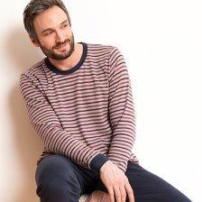 Man striped pyjama in interlock organic cotton