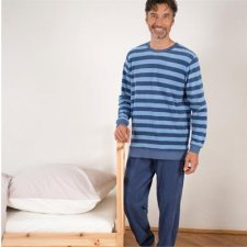 Man striped pyjama in terry organic cotton