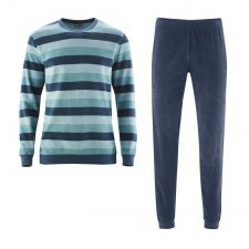 Man striped pyjama in terry organic cotton