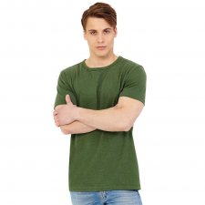 Man t-shirt khaki in hemp and organic cotton