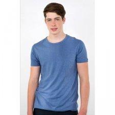 Man t-shirt Steel blue in hemp and organic cotton