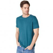 Man t-shirt Pacific blue in hemp and organic cotton